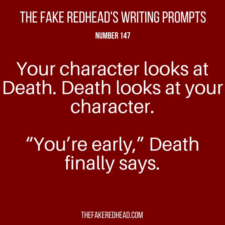 Short writing prompts