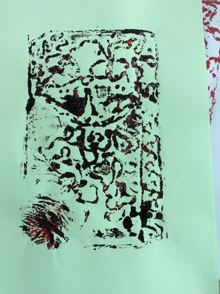 Collagraph Printmaking 4/4. Kim. 2015.