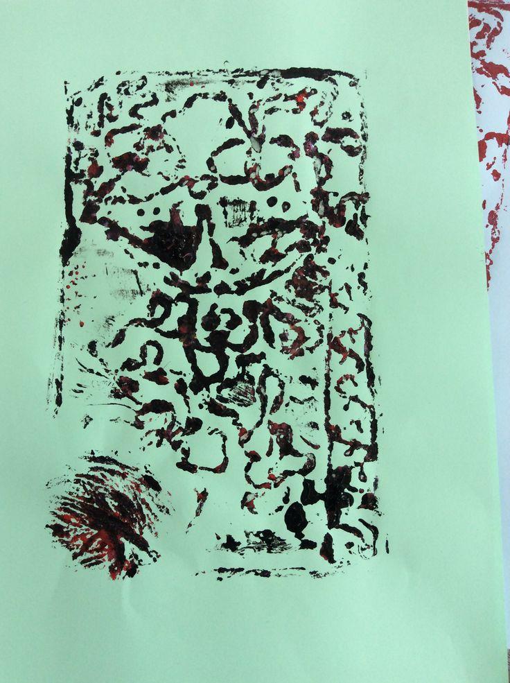 Collagraph Printmaking 4/4. Kim. 2015.