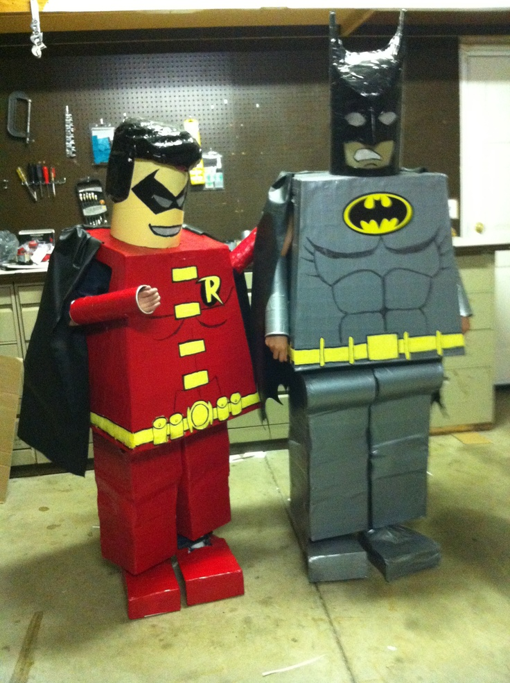 Lego Batman u0026 Robin costumes made by Mike McGeorge for Brandon u0026 Preston this Halloween 2012 & 45 bedste billeder om Costume ideas på Pinterest | Lego batman ...
