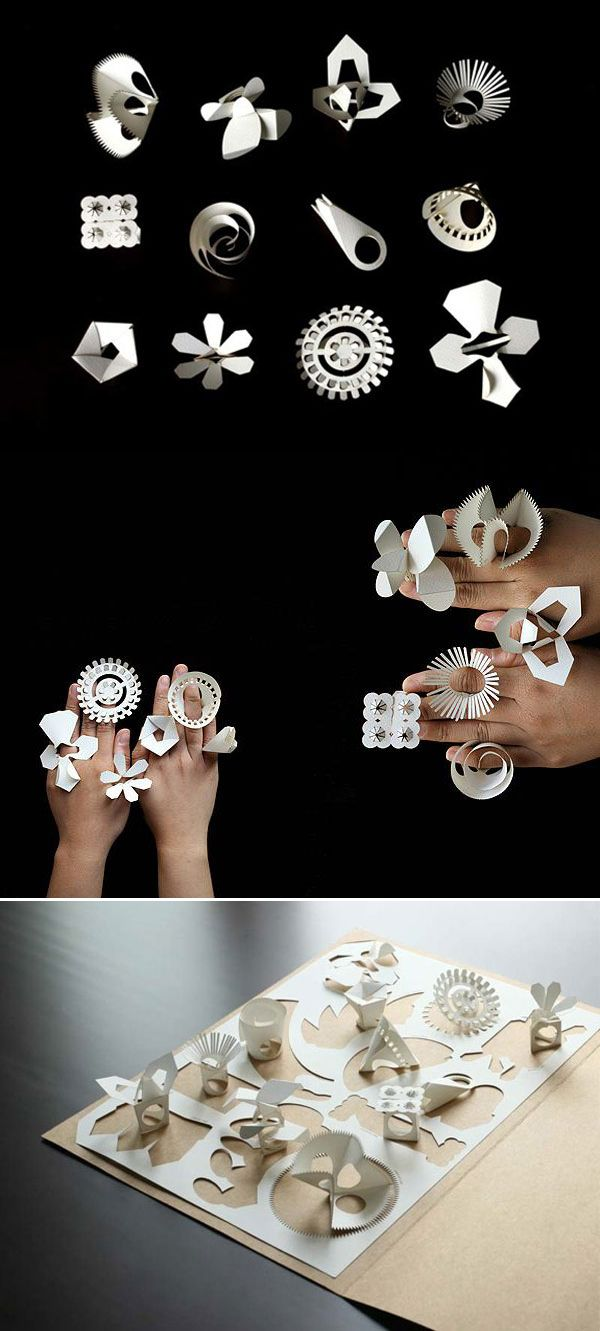 fold-out paper rings by talented designers Tithi Kutchamuch and Nutre Arayavanish