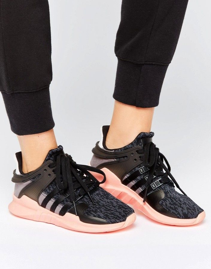 adidas Black EQT Support Sneakers
