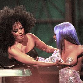 Lil' Kim, Diana Ross, ...I miss old school Lil Kim before she went plastic surgery crazy