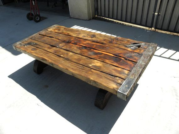 Authentic Antique Vintage Wwii Liberty Ship Hatch Door Coffee Table