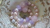 Süsswasserperlen mit Amethyst und Rosaquartz von lovely pearls