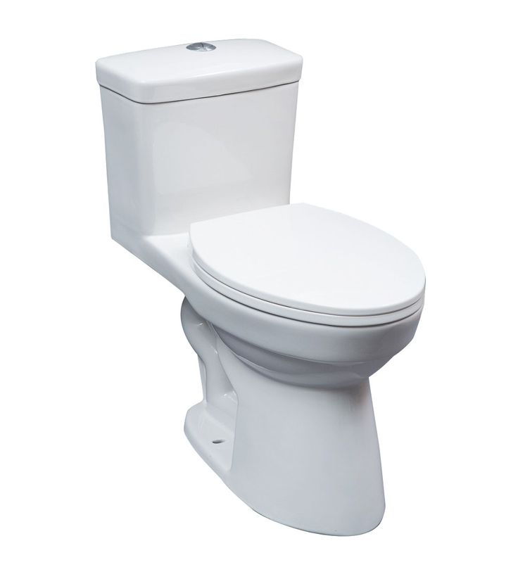 "16.5"" ELONGATED ONE PIECE DUAL FLUSH TOILET 3 INCH FLAPPER 4/6L White"