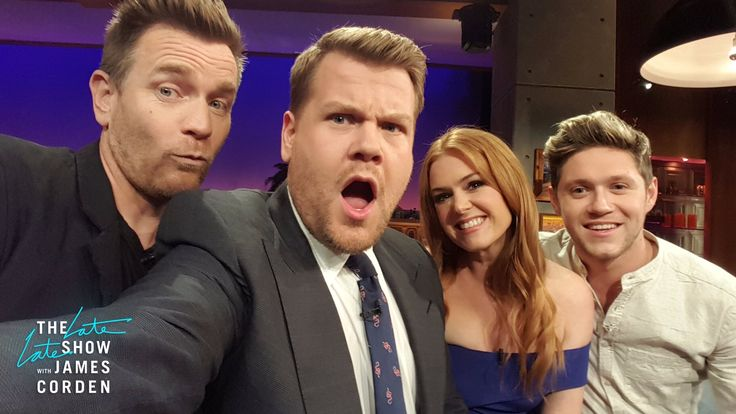 Niall on The Late Late Show with James Corden, with Isla Fisher & Ewan McGregor