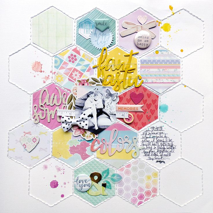 THIS MAKES ME SO HAPPY scrapbook layout by Paige Evans