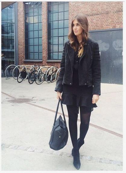 Beautiful Darja Barannik in our favorite biker jacket from #samsoesamsoe Now available on hoyer.no Price 4199,- #samsøesamsøe #hoyerno #høyer #webshop #nettbutikk #darjabarannik #biker