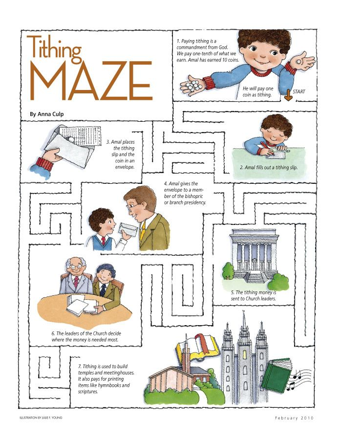 tithing maze great for this weeks sharing time primary