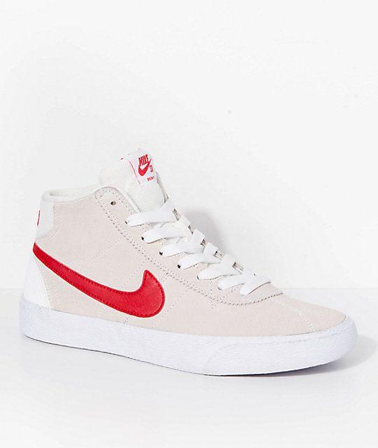 2ba33a985e35 Nike SB Bruin Hi Summit White   University Red Skate Shoes