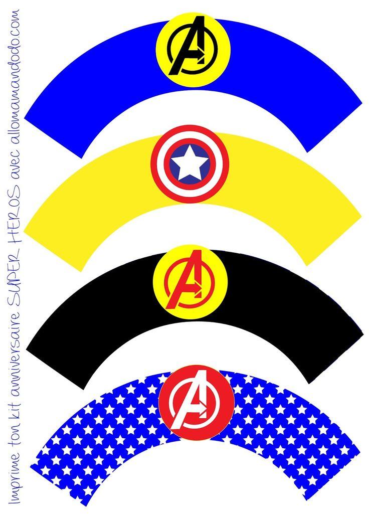 superheroes-party-free-printable-cupcake-wrappers.jpg (1131×1600)