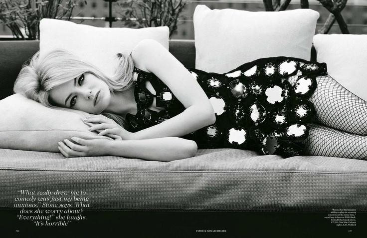 Эмма Стоун (Emma Stone) для Vogue UK. Фотограф Патрик Демаршелье (Patrick Demarchelier)