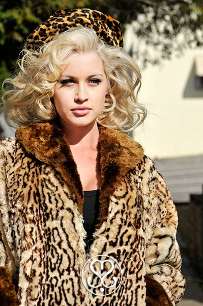 Leopard Print Fashion &  Blonde Curls - Hair and make up by Sharryn Sinclair from Wasp Hair | Wasp Hair