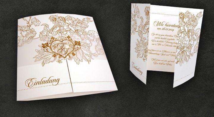 Moderne oder klassische Einladungskarten zur Hochzeit? Hier finden Sie viele Ideen, Farben und Hochzeitskarten-Designs für eine schlichte, zeitlose aber stilvolle Hochzeit. Jetzt Hochzeitseinladungen online gestalten lassen, bestellen und Karten in unserer Hochzeitseinladungen-Druckerei drucken lassen.