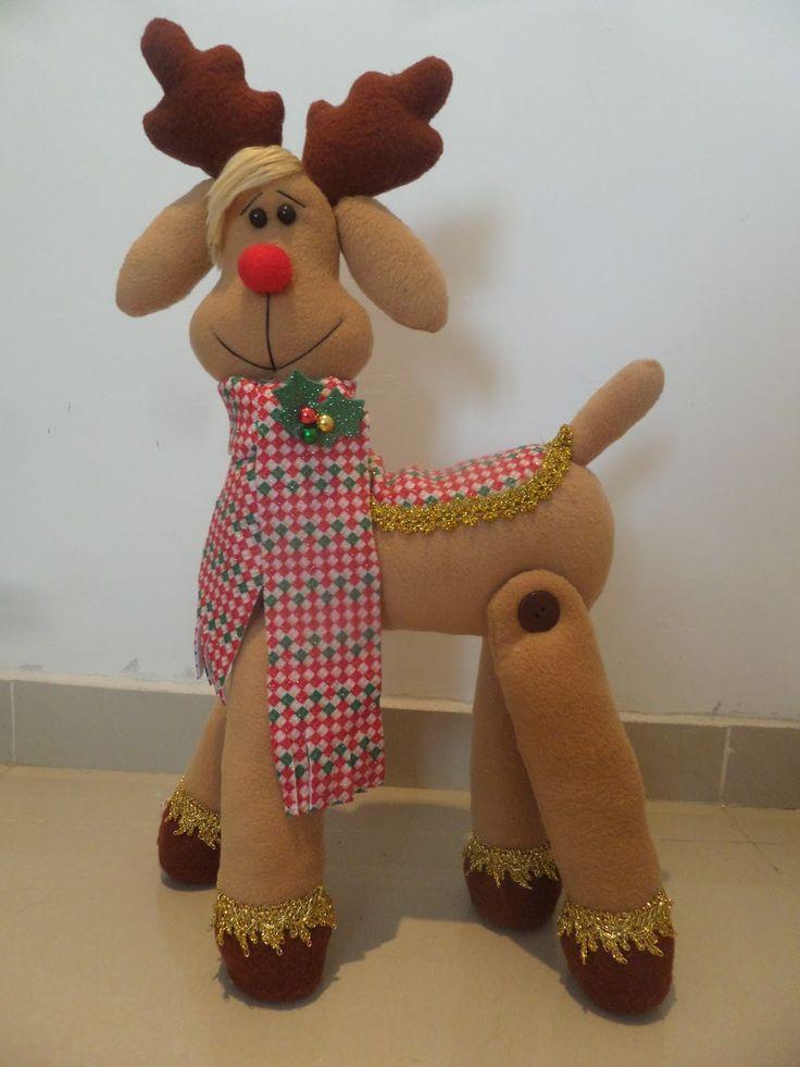 Tutorial reno navideño para descargar moldes gratis