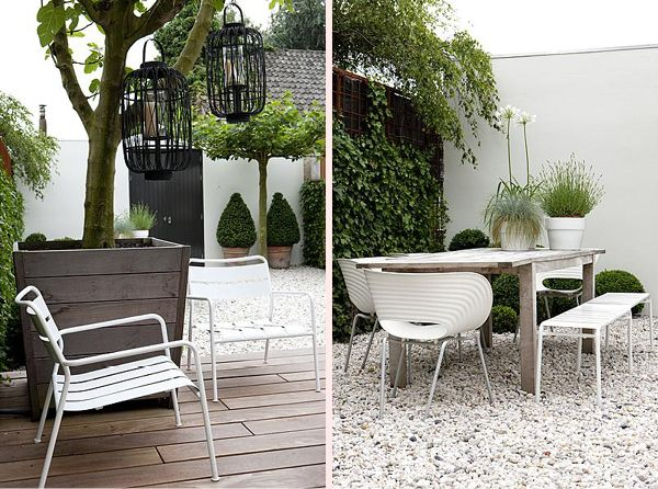 simple contemporary wooden planter palest gravel and decking - 2 Het zonnetje in huis