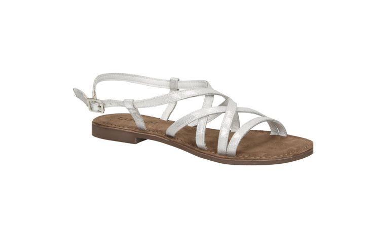 Lazamani 75.377 zilveren platte sandaal