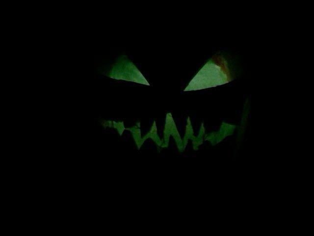Creepy green glow