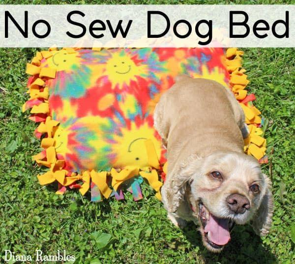 Fleece No Sew Dog Bed Dog Pillow Bed Dog Bed Dog Blanket