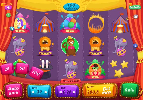 Slot Game by Anna Chuyko, via Behance