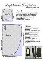 Simple Hooded Cloak Pattern by Nenesta