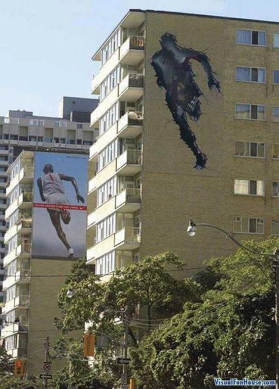 #outdoor #street #marketing #guerilla #ambient #billboard #creative #campaign #advertising #nike