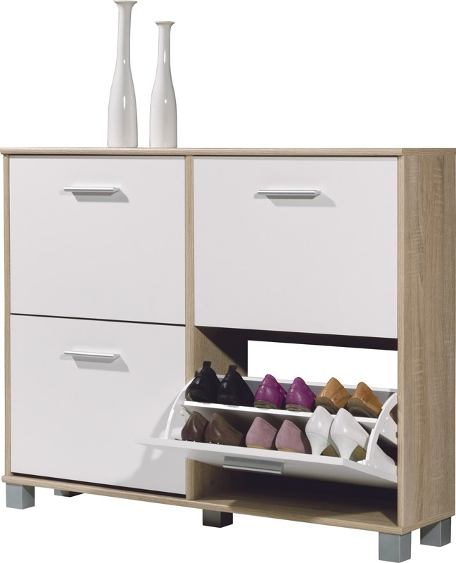 White Shoe Cabinet With Drawers