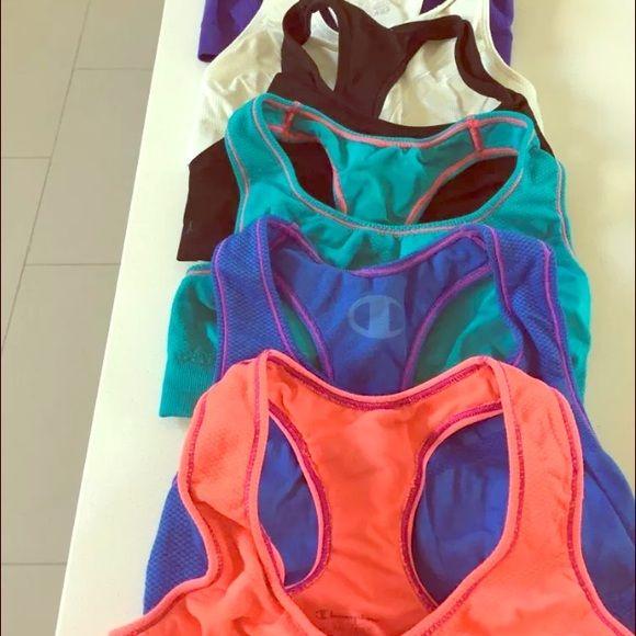 Lot of 6 Champion Sports Bras Great quality size small sports bras Champion Intimates & Sleepwear Bras