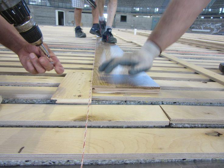 La #pavimentazione sportiva del palasport di Udine è dotata di impianto di #riscaldamento radiante