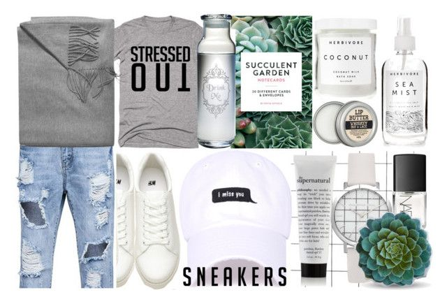 DAMN DANIEL by counterkitty on Polyvore featuring polyvore, fashion, style, Herbivore, NARS Cosmetics, Sofiacashmere, Chronicle Books, Dot & Bo, clothing, contestentry and whitesneakers