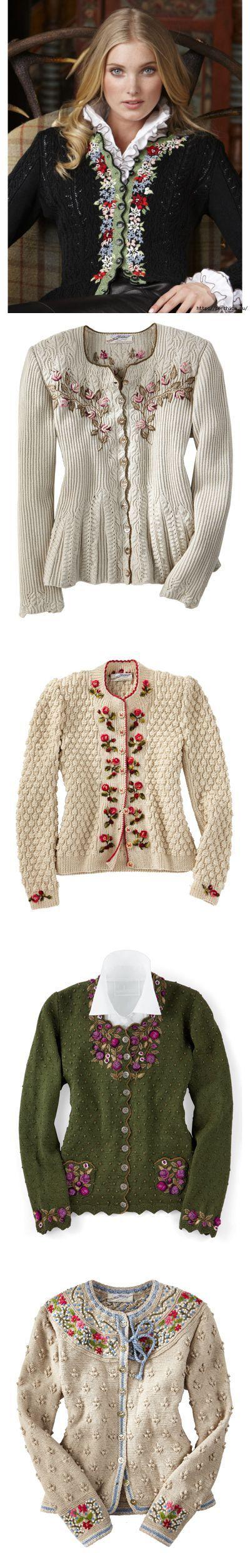 Вышивка на вязаном полотне - идеи,советы и схемы вышивки
