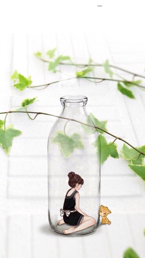 Draw Someone Behind Glass