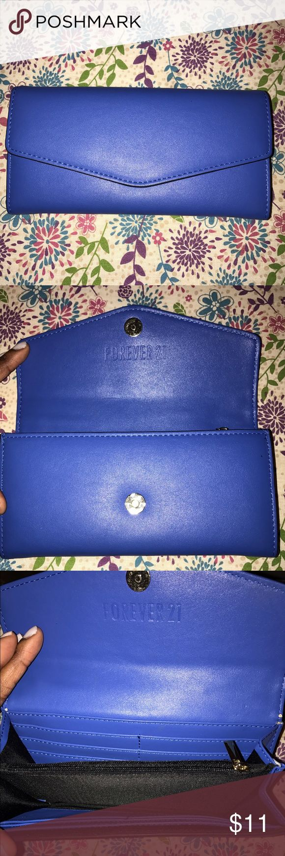 Royal Blue Clutch by Forever 21 Royal Blue Clutch by Forever 21 -- no scratches, in great condition Forever 21 Bags Clutches & Wristlets