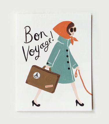Bon voyage (Rifle Paper Co. Card)