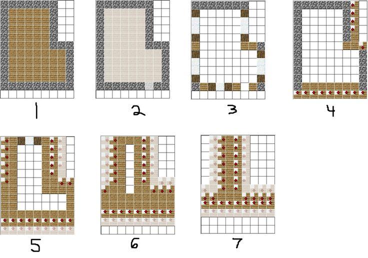 Minecraft House Blueprints 09