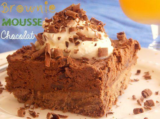 Brownie mousse au chocolat hyper gourmand