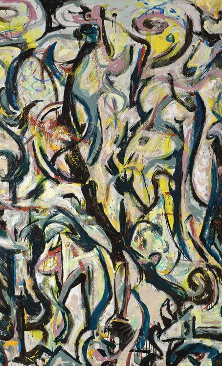 Mural (Detail)   -   Jackson Pollock  1943.   American 1912-1956  © Pollock-Krasner Foundation