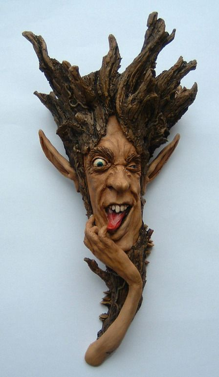 Treehead, great idea for a tree face sculpture for Spring...