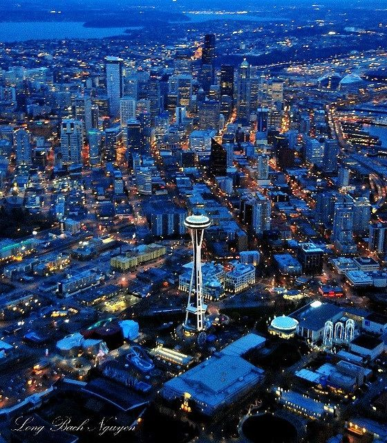 If skies are clear, you'll get this view on your flight to Seattle.