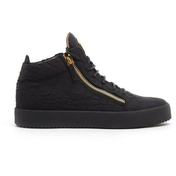 GIUSEPPE ZANOTTI Sneakers With Two Zip (19,055 THB) ❤ liked on Polyvore featuring men's fashion, men's shoes, men's sneakers, mens leather shoes, mens zipper shoes, giuseppe zanotti mens sneakers, mens zip shoes and mens black sneakers