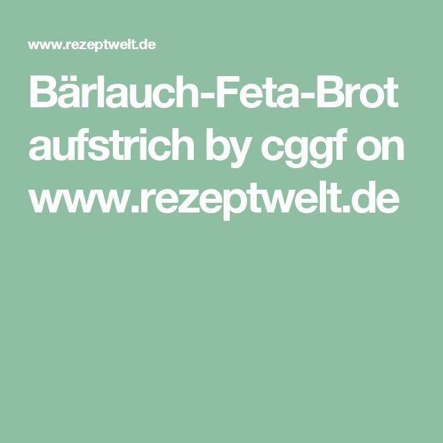 Bärlauch-Feta-Brotaufstrich by cggf on www.rezeptwelt.de