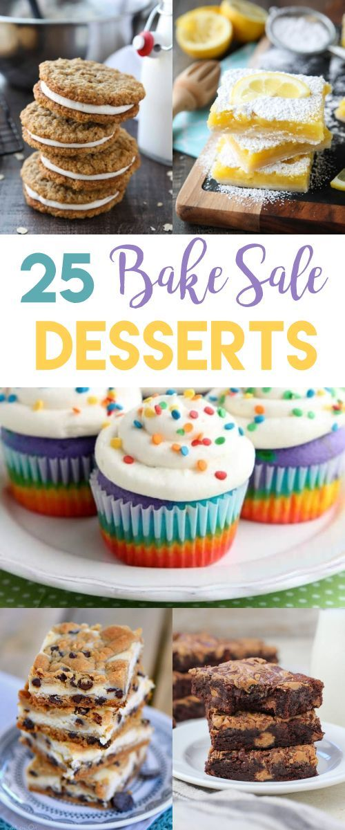 25 Bake Sale Desserts That Will Sell Out Fast! Bake sale