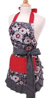 Sewing project idea - cute apron - love this, but different colors!!!