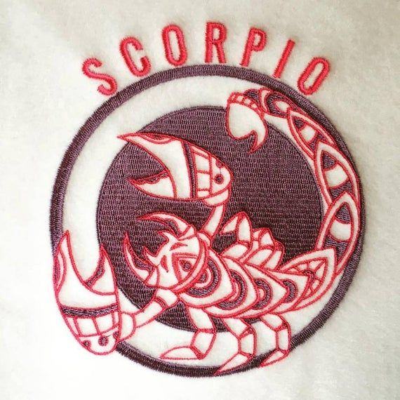 A New Machine Embroidered Hand Finished Birthday Card-Zodiac Star Sign Gemini.