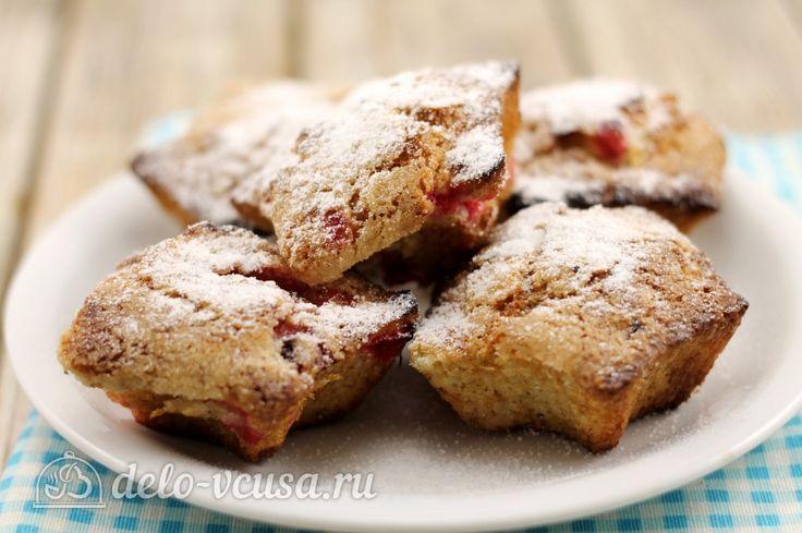 Маффины с ягодами #кексы #маффины #десерты #выпечка  #рецепты #деловкуса #готовимсделовкуса