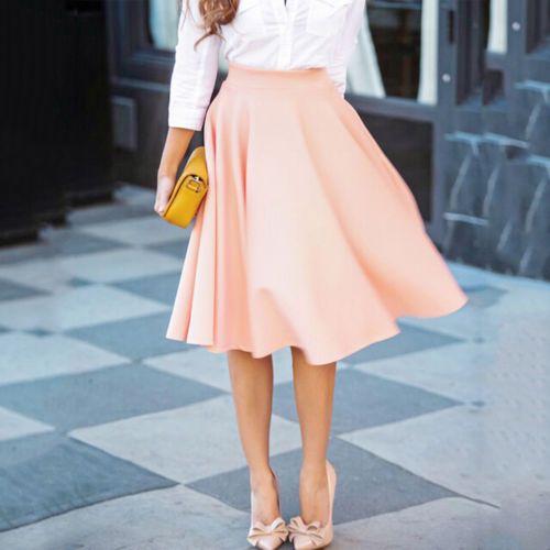 die 25 besten ideen zu rosa rock outfits auf pinterest rosa r cke midi rock outfit und midirock. Black Bedroom Furniture Sets. Home Design Ideas