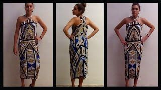 Vestido con tirantes cruzados realizado sin coser  How to make a dress without sewing
