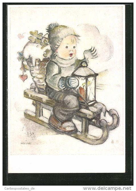 Cartes Postales / hummel - Delcampe.fr | Dessin vintage, Cartes
