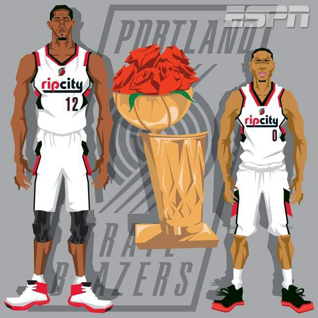 Portland Trail Blazers Basketball: Portland Trail Blazers Playoffs 2014 Espn Art